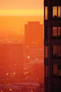 Chicago Sonnenuntergang jetlag Großstadt