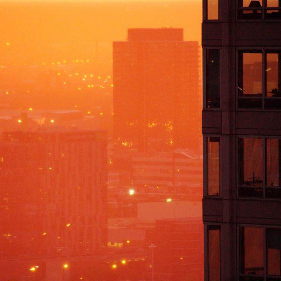 Sleepless in Chicago solnedgang storby jetlag