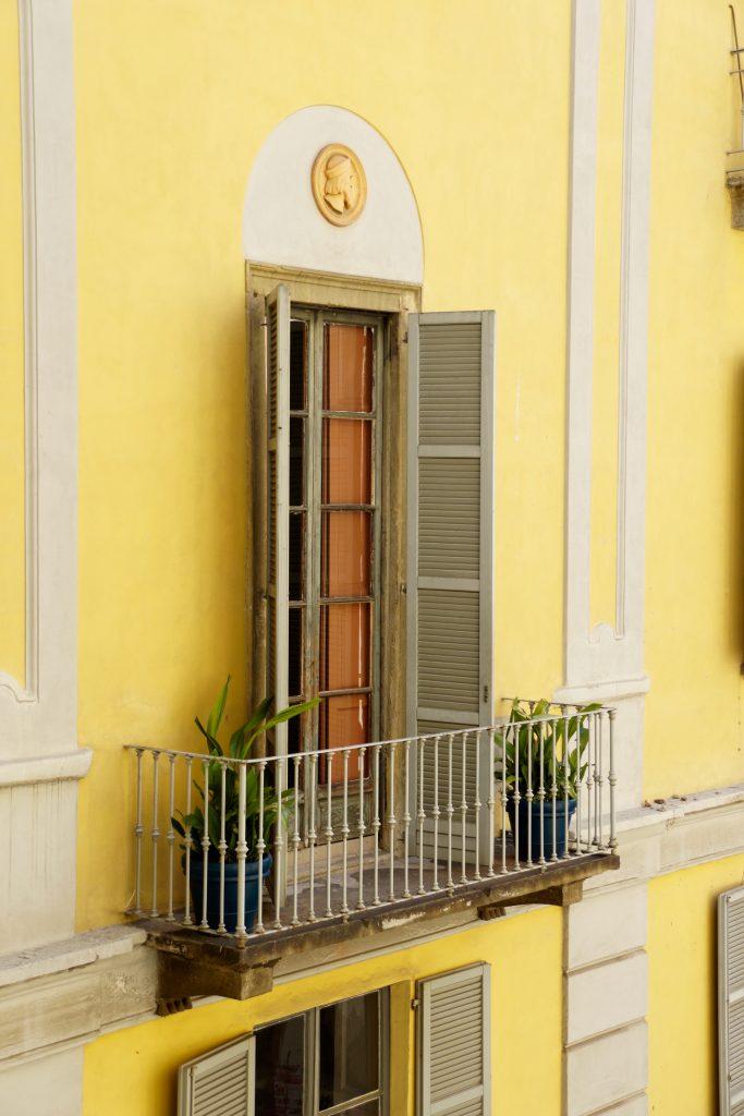 fransk balkong Brera Milano
