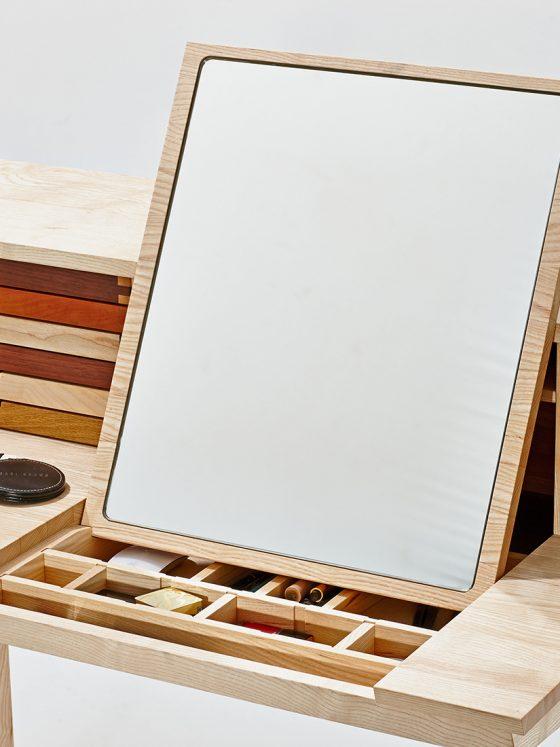 Schreibtisch spiegel holz