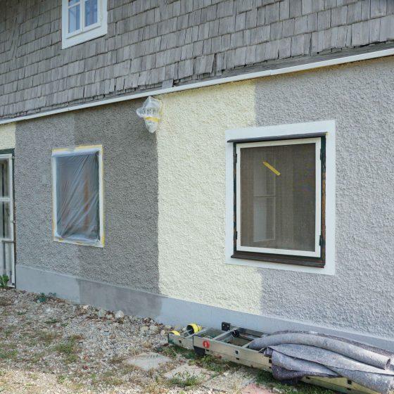maler huset male gammelt hus