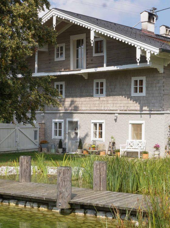 Male Huset gammelt tradisjonelt hus tre