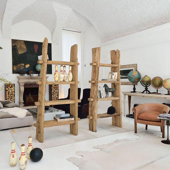 Reol romdeler stue bærekraftige møbler bærekraftig interiør miljøvennlig