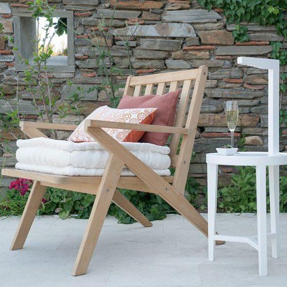 utendørsmøbler trestol bærekraftig