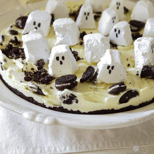 Halloween Iskake med spøkelser