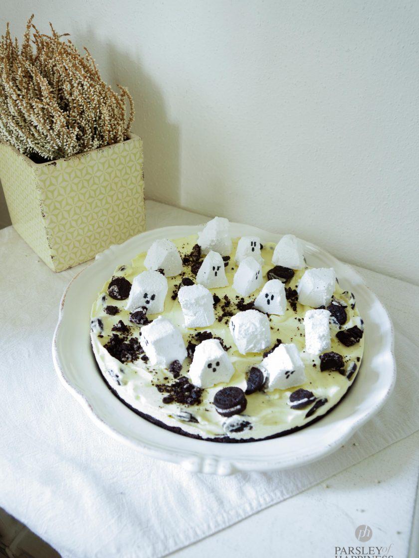 Oreo Kuchen Eiskuchen Gespenster Halloween