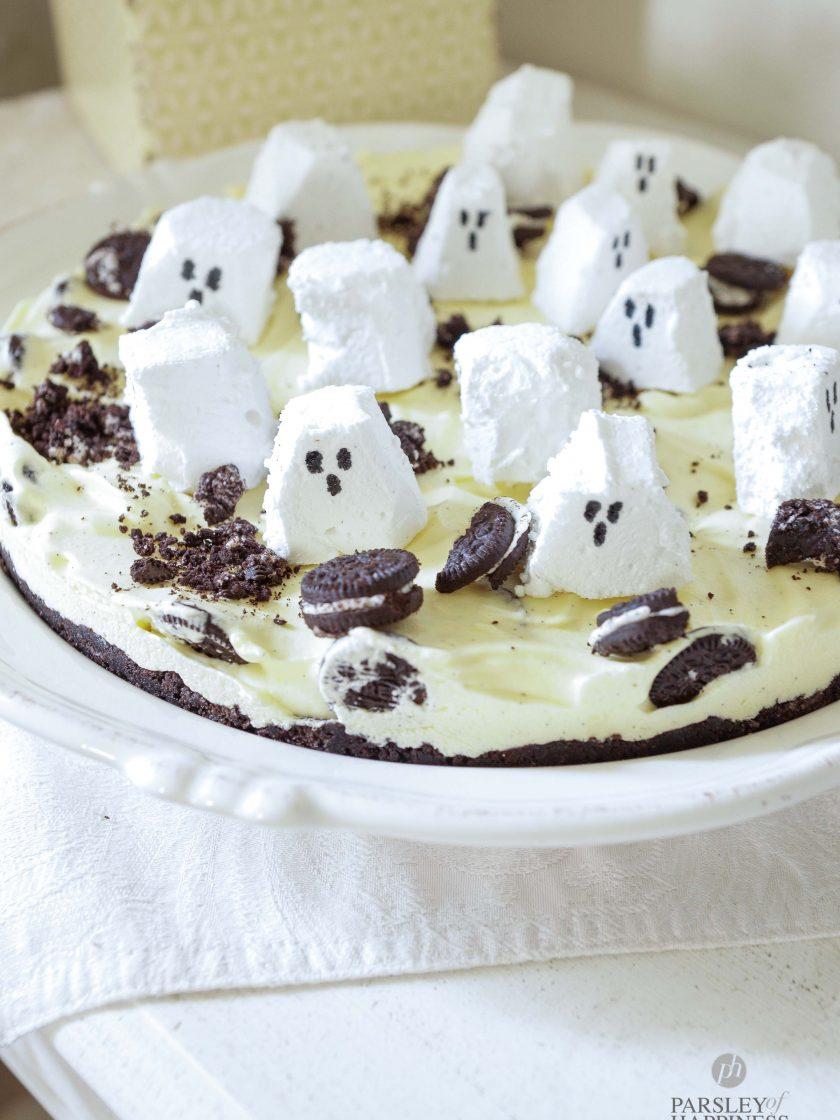 Einfacher Oreo Kuchen für Halloween
