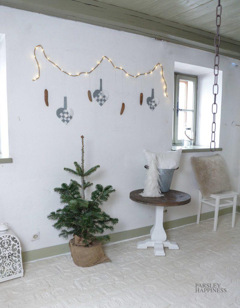 Norsk jul skandinavisk jul julehjerter julekurver landlig stil jul på landet