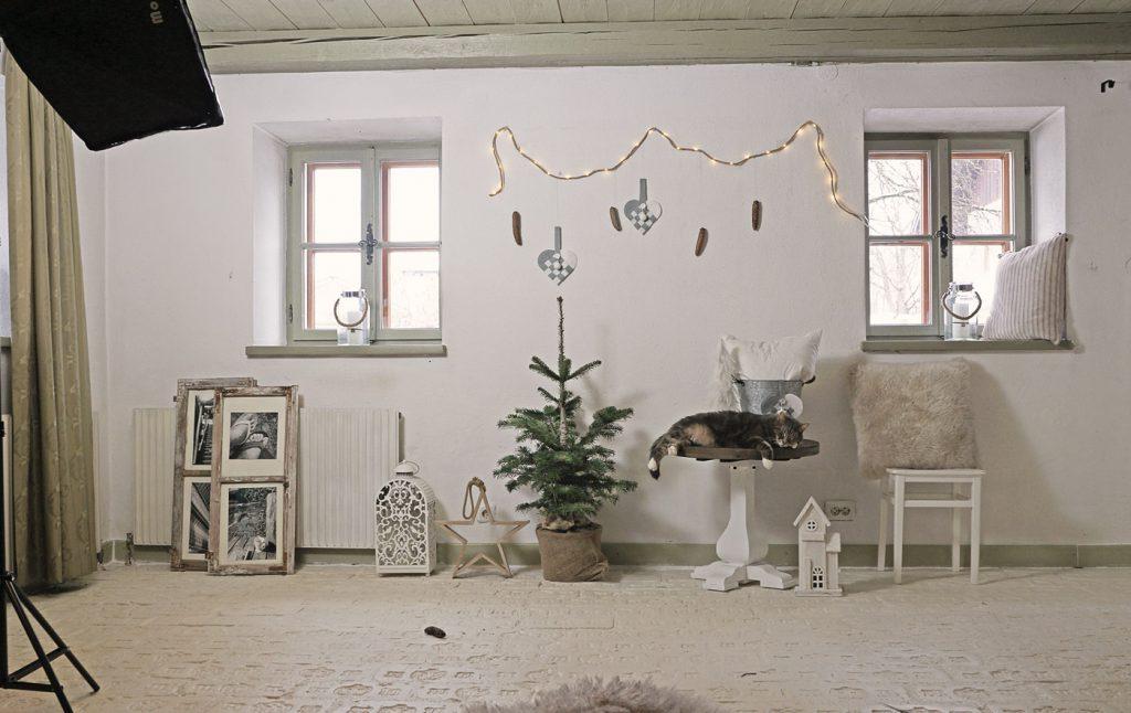 Skandinavisches minimalirisches Weihnachtsdeko