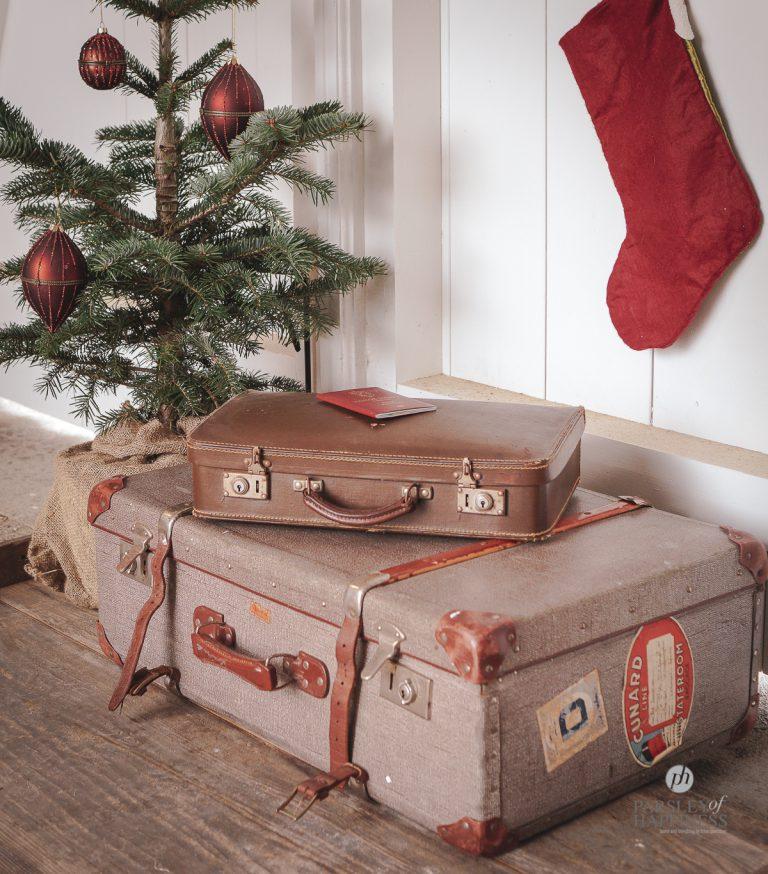 Antikke kofferter jul og julereise