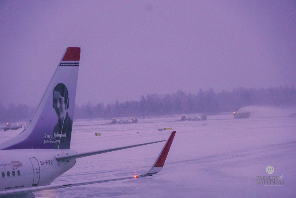 Snø og vinter på flyplassen