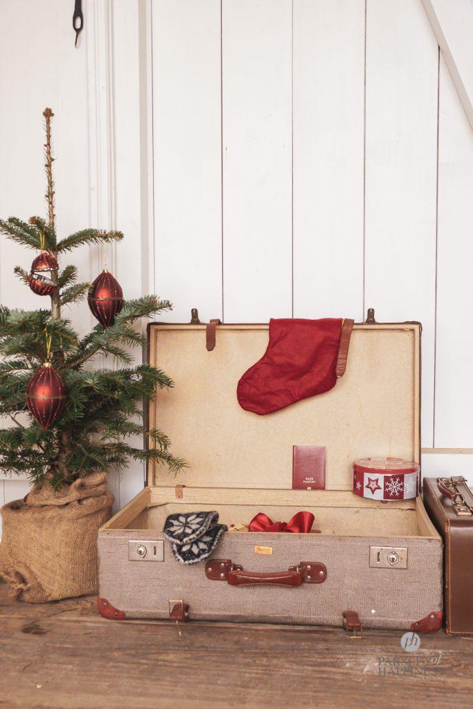 Koffer, Christbaum Weihnachtsshopping