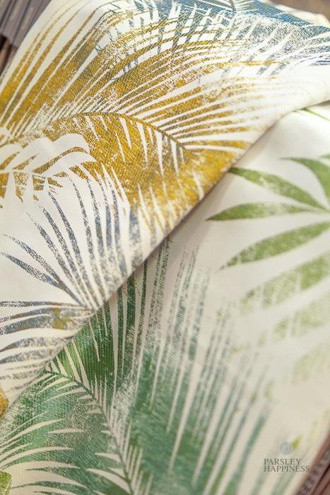 Stoff Tekstil blader Grønt