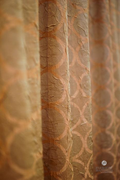 Stoffe Textil Gold Rosé