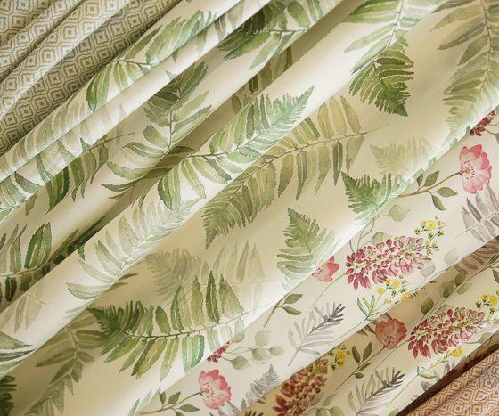 Tekstil Stoff blader grønt