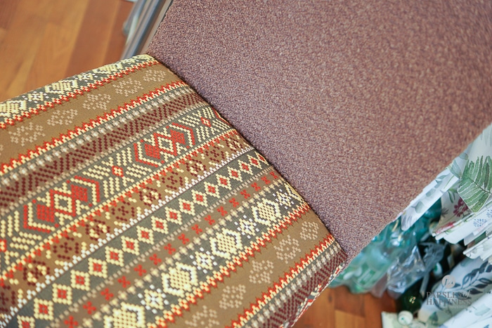 Sessel i Folkloremuster Stoffe Textil