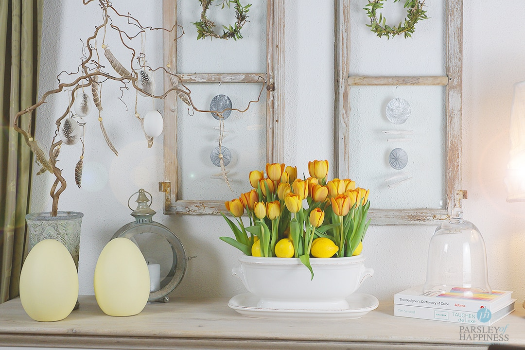 Påskepynt tulipaner diy Osterdeko Tulpen DIY