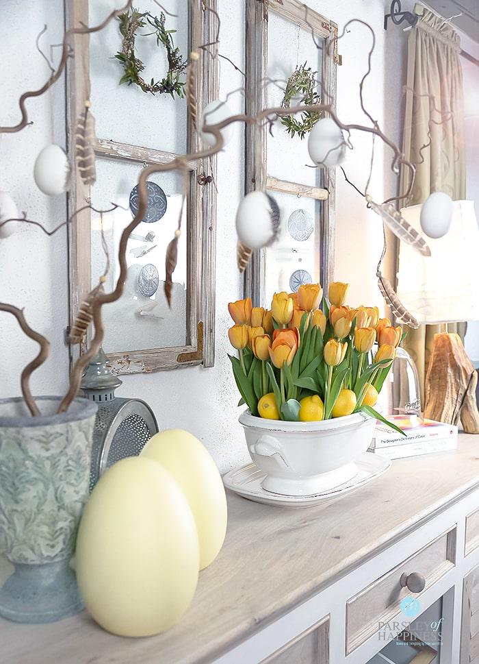 Påskepynt tulipaner Osterdeko Tulpen