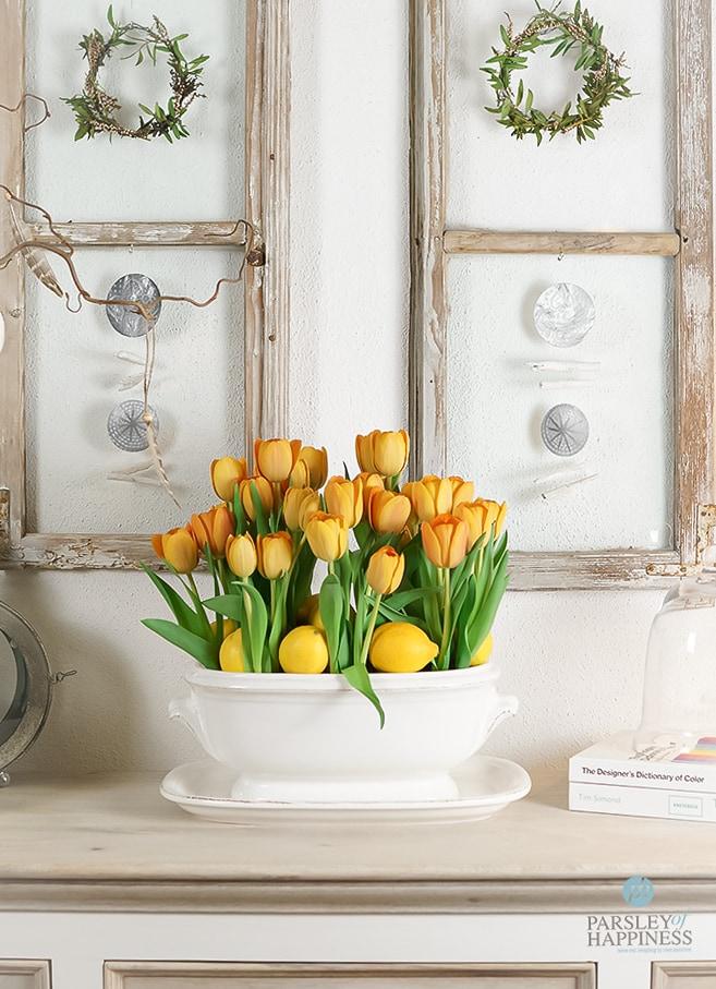 Påskepynt tulipaner/Osterdeko Tulpen Landhausstil