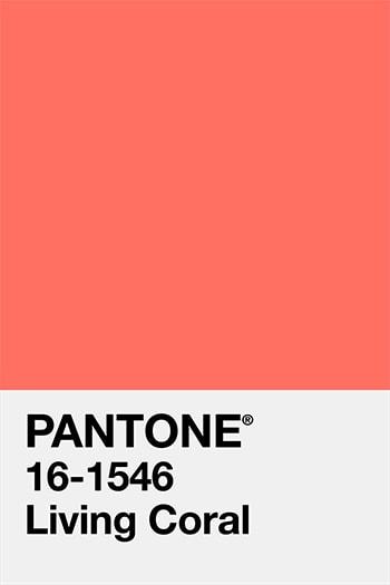 Pantone Vivid coral farge