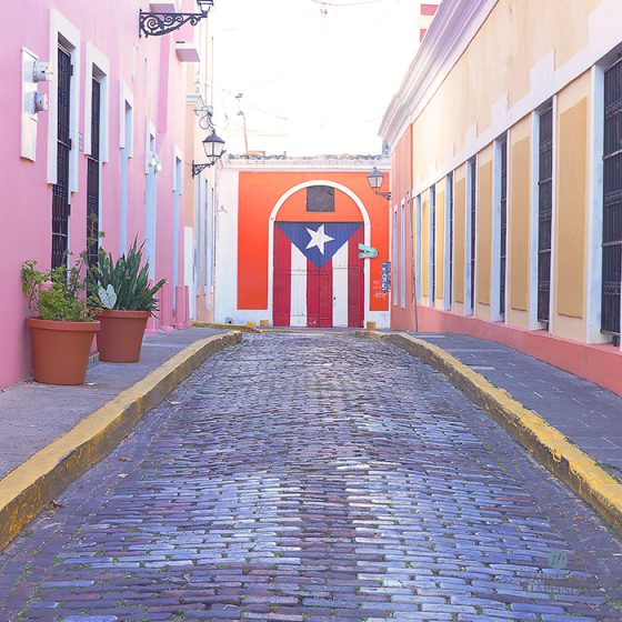 Old San Juan street painted door