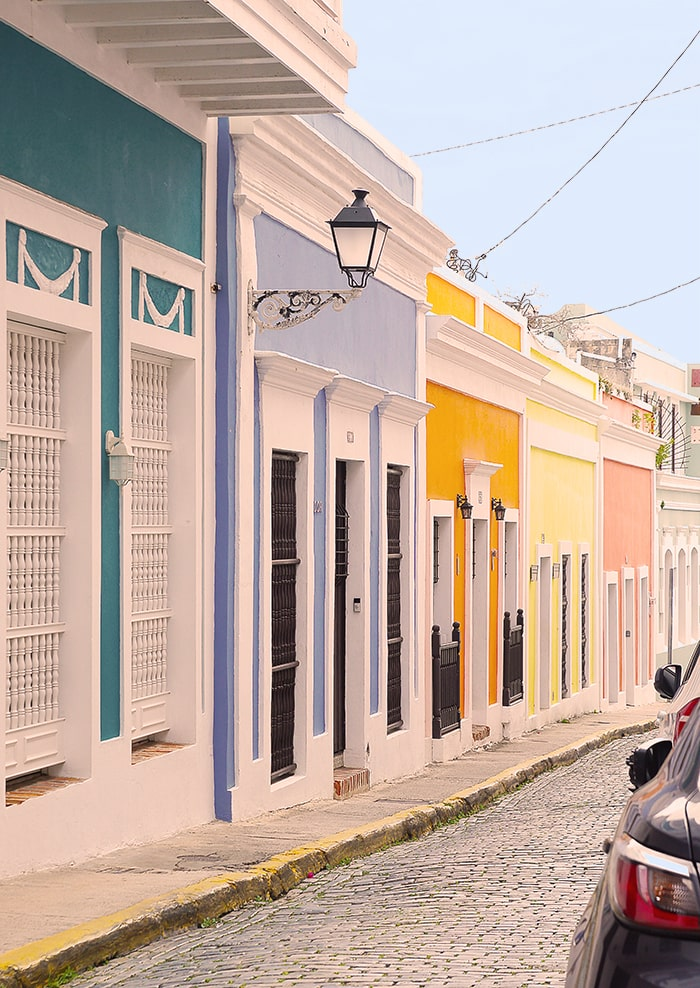 Colourful streets in Puerto Rico