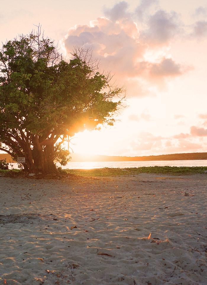 Sonnenaufgan am Strand in Puerto Rico