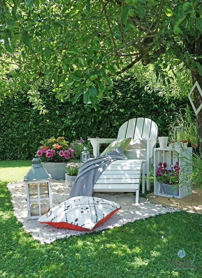 Teppiche im Garten