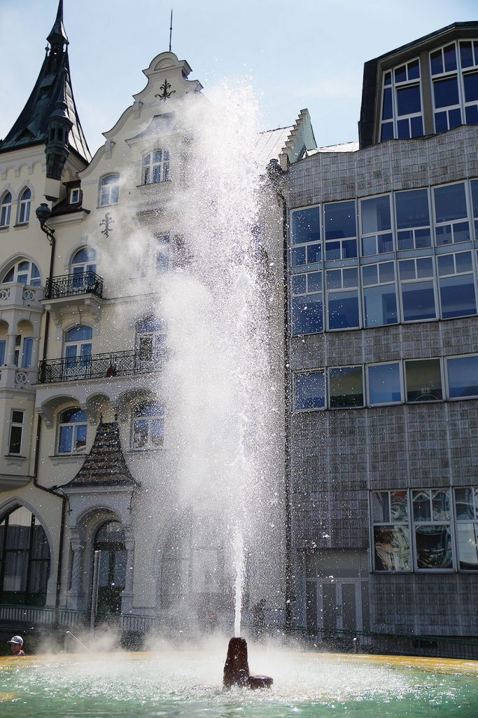 Hot springs in Karlovy Vary