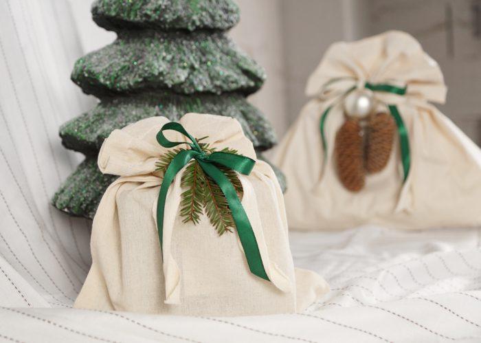Bæreposer som julepapir