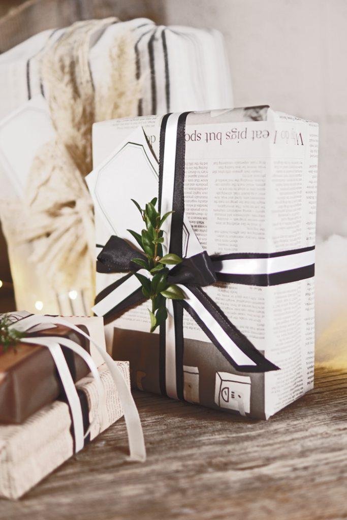 Bærekraftig julepapir