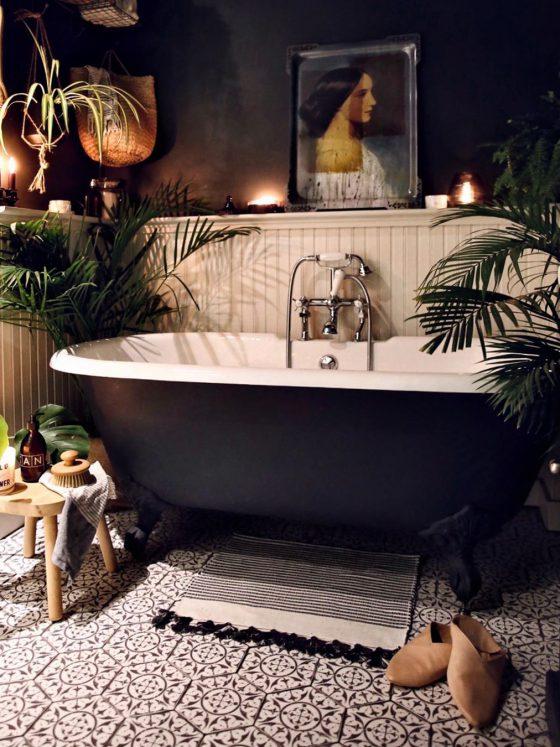 Urban jungle på badet