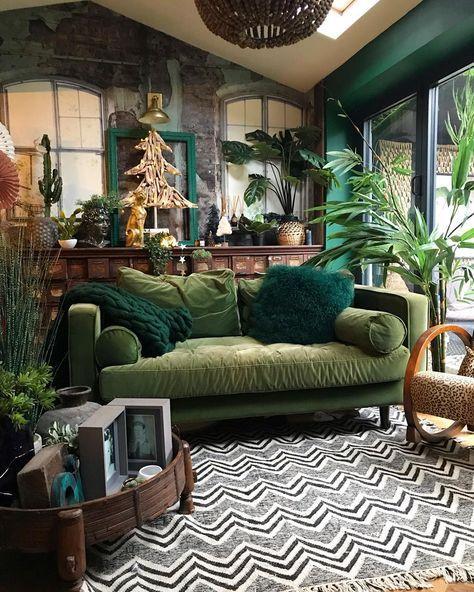 urban jungle grønt rom