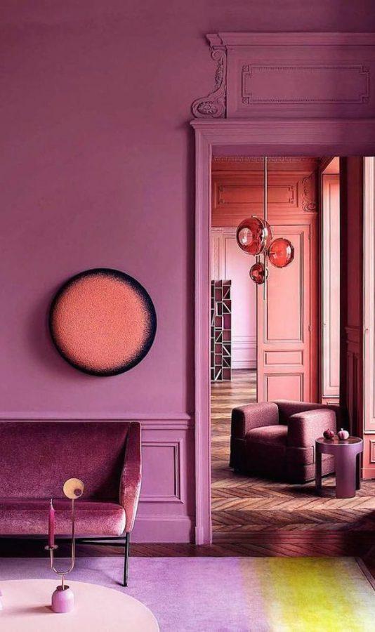 Lilla interiør i bold monochromatic