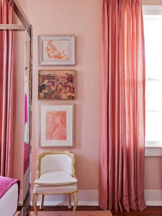 Bold monochromatic in Pink
