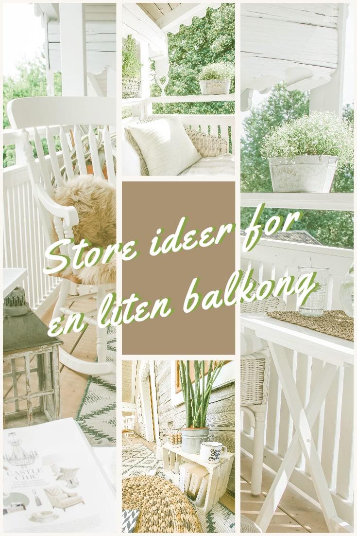 slik styler du den lille balkongen din
