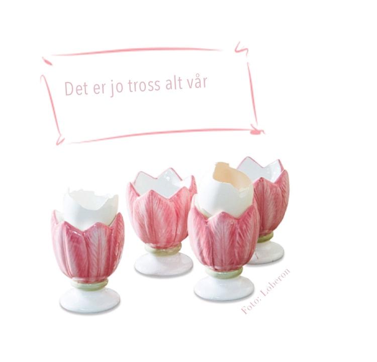 rosa eggeglass gave til valentinsdags