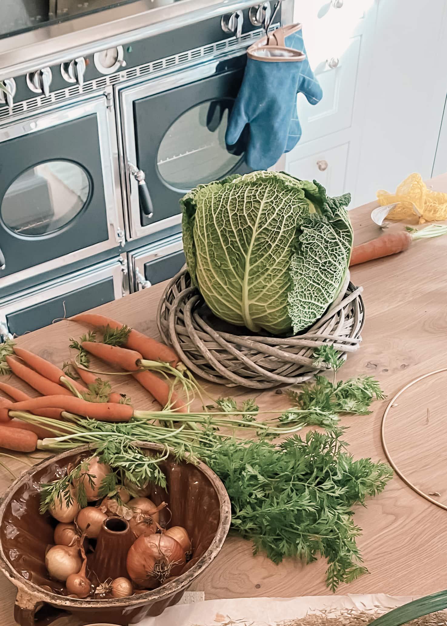 Gemüse als Osterdeko