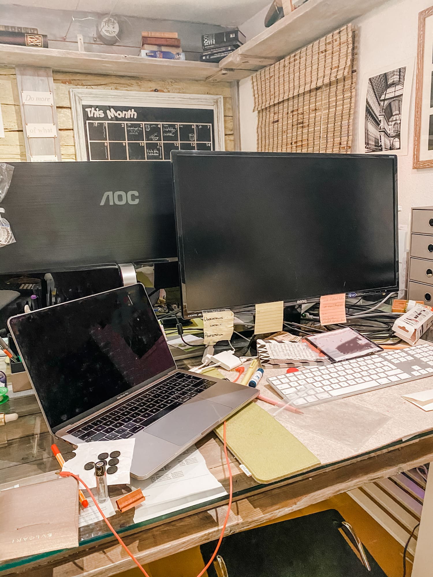 Bildschirm, Home Office, Vorher/Nachher, Vorher, Monitor, DIY,