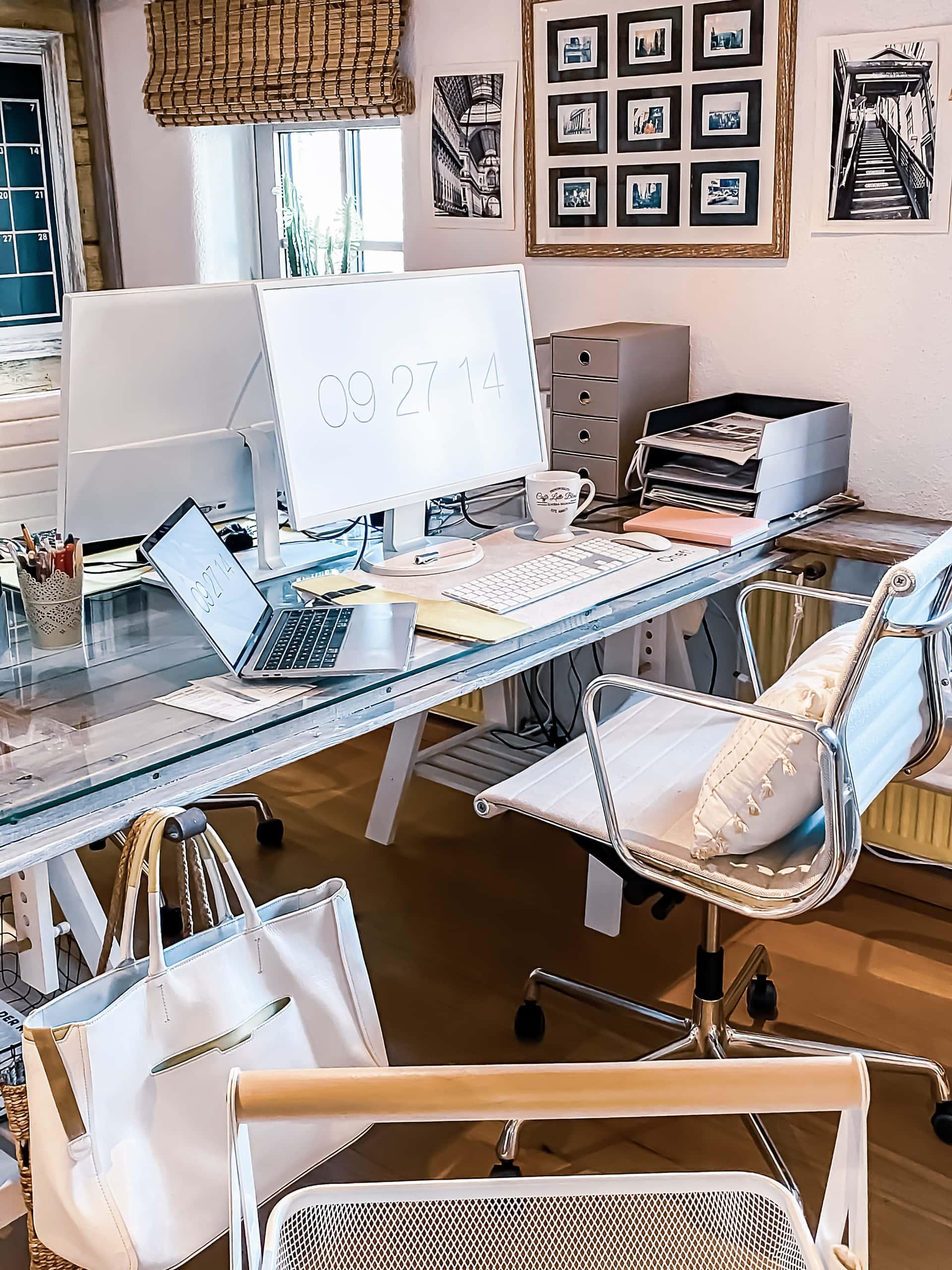 Home office, DIY, Büro, Bildschirm, Monitor, pimp, weise Büromöbel, modernes Home Office