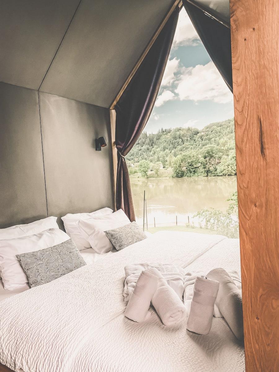 Glamping Hütte mit Aussicht