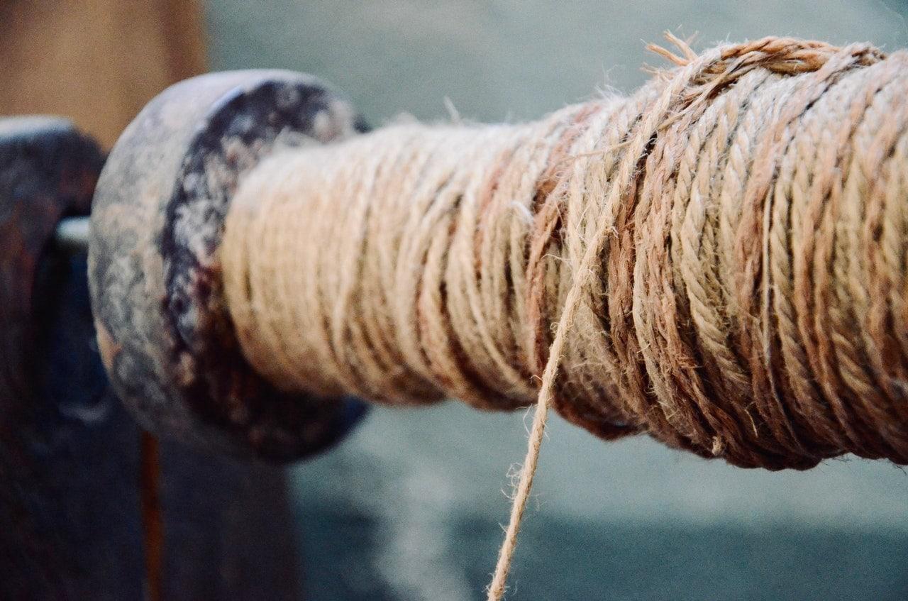 Hanf Fasern Schnur Nachhaltig Materialien